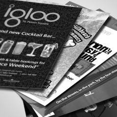 Budget Black & White Leaflets & Flyers