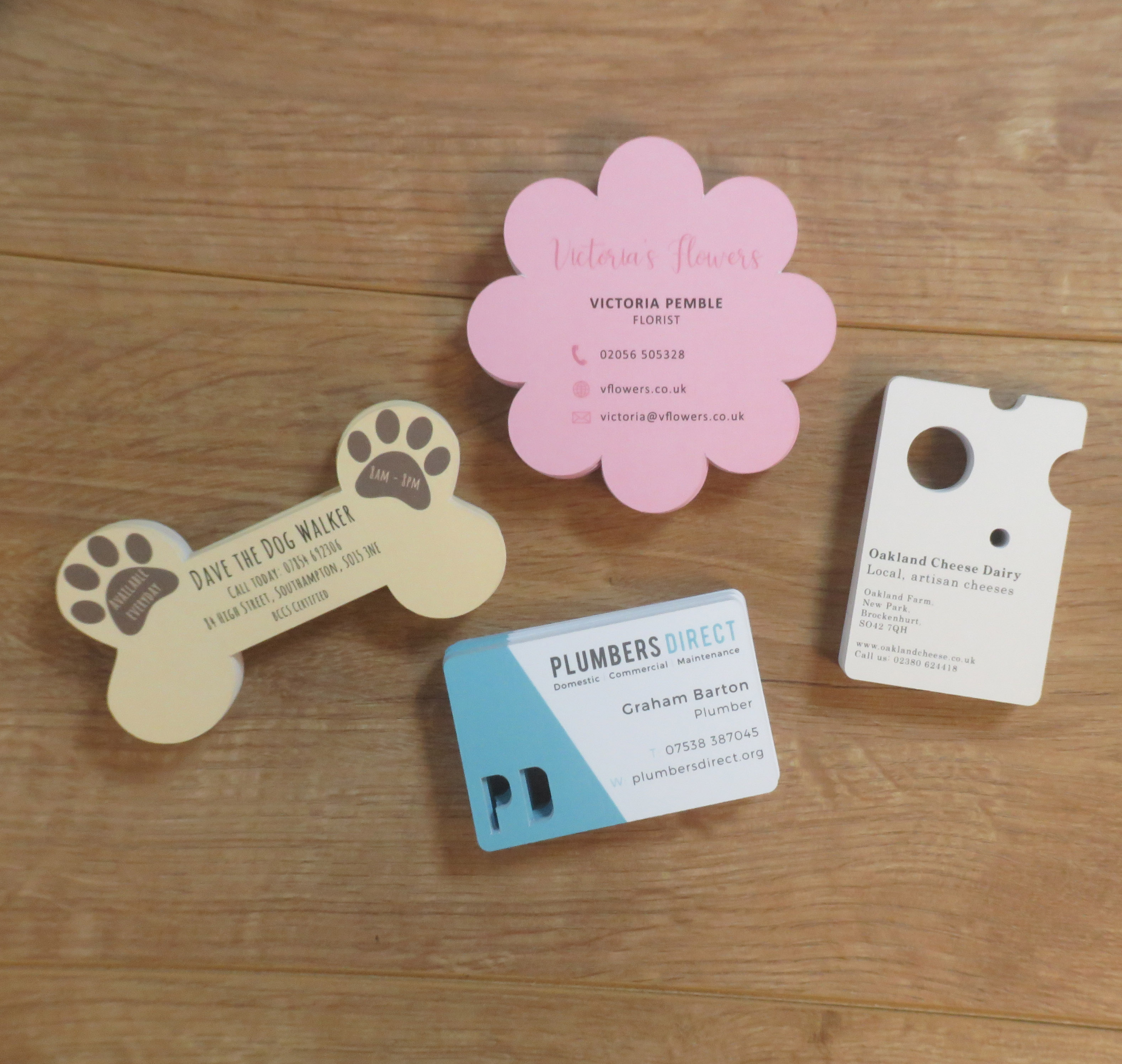 Die Cut (shaped) Business Cards