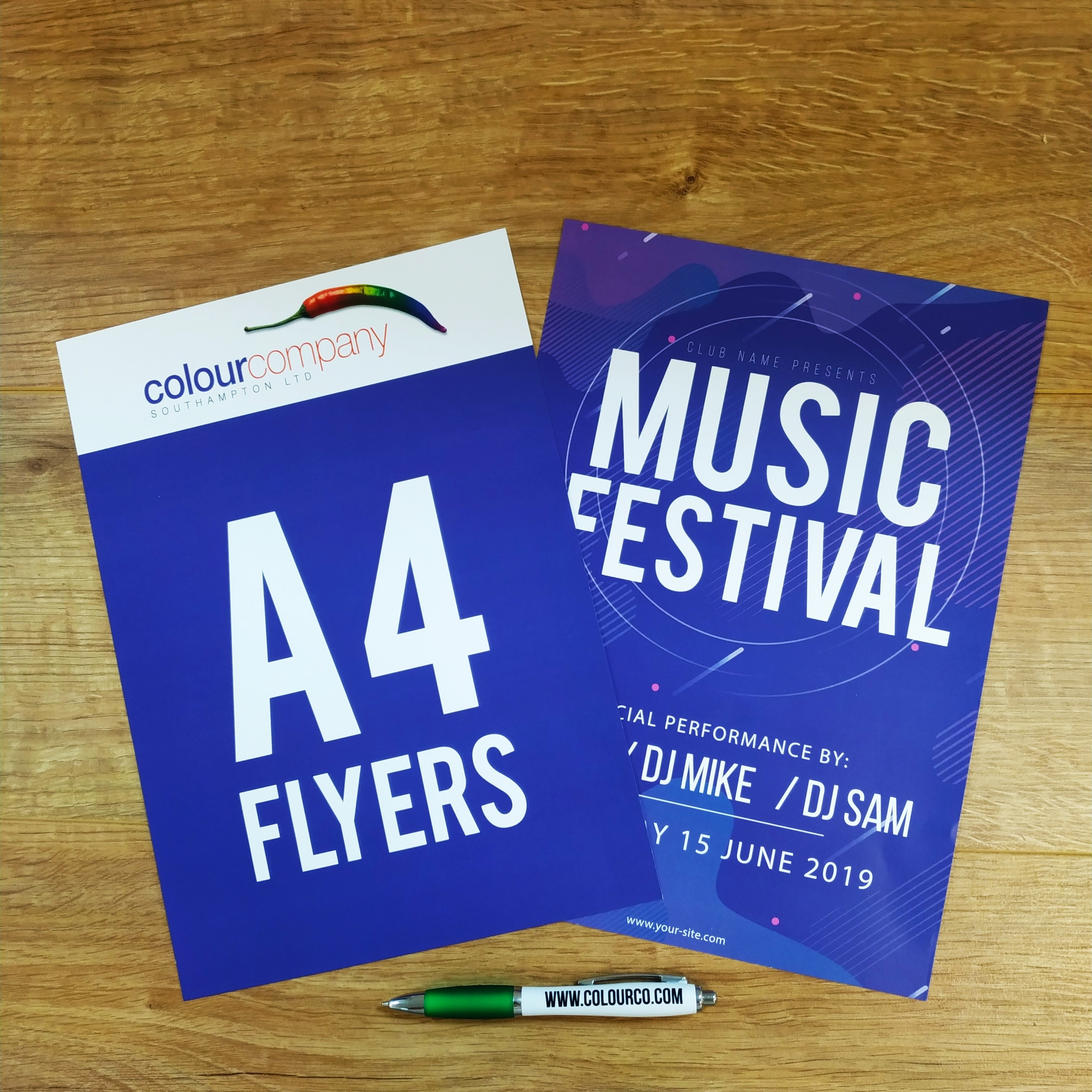 A4 Leaflets and Flyers